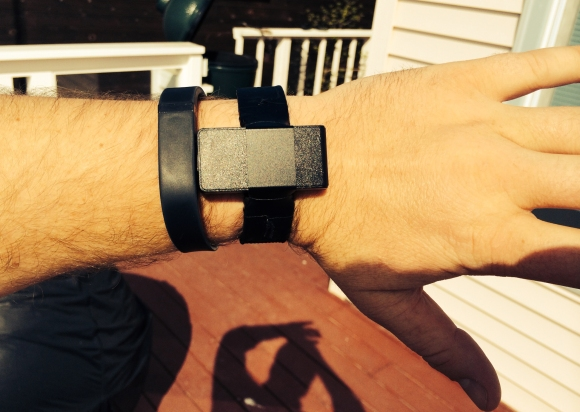 Mounted Logger (Overhead View) Alongside FitBit Flex